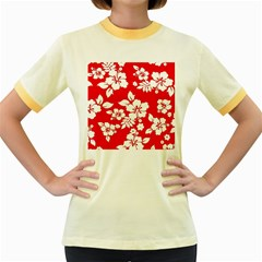 Red Hawaiian Women s Fitted Ringer T Shirts