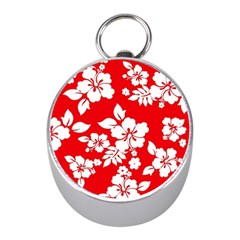 Red Hawaiian Mini Silver Compasses