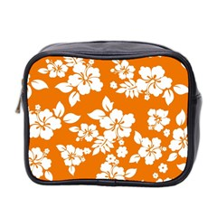 Orange Hawaiian Mini Toiletries Bag 2-Side