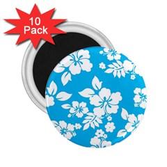 Light Blue Hawaiian 2.25  Magnets (10 pack)