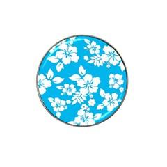 Light Blue Hawaiian Hat Clip Ball Marker