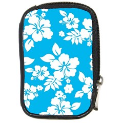 Light Blue Hawaiian Compact Camera Cases
