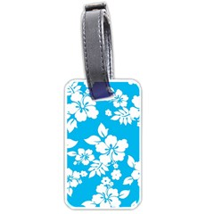 Light Blue Hawaiian Luggage Tags (One Side)