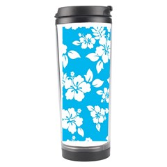 Light Blue Hawaiian Travel Tumbler