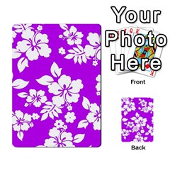 Purple Hawaiian Multi-purpose Cards (Rectangle)