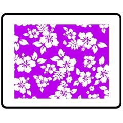 Purple Hawaiian Fleece Blanket (Medium)