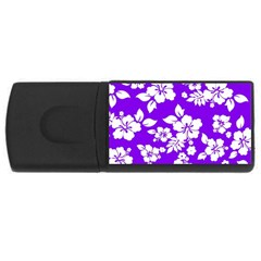 Violet Hawaiian USB Flash Drive Rectangular (1 GB)