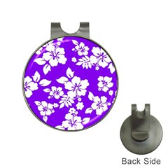Violet Hawaiian Hat Clips with Golf Markers