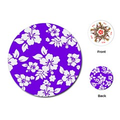 Violet Hawaiian Playing Cards (Round)