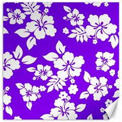 Violet Hawaiian Canvas 12  x 12