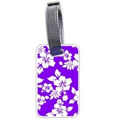 Violet Hawaiian Luggage Tags (One Side)