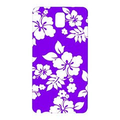 Violet Hawaiian Samsung Galaxy Note 3 N9005 Hardshell Back Case