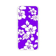Violet Hawaiian Apple Seamless iPhone 6/6S Case (Transparent)