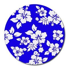 Deep Blue Hawaiian Round Mousepads