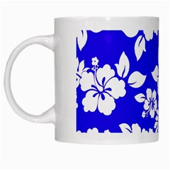 Deep Blue Hawaiian White Mugs