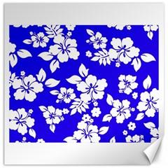 Deep Blue Hawaiian Canvas 20  x 20