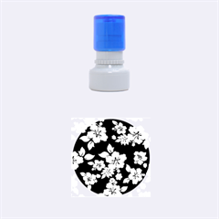 Deep Blue Hawaiian Rubber Round Stamps (Small)