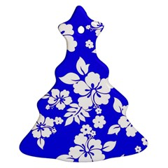 Deep Blue Hawaiian Ornament (Christmas Tree)