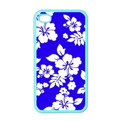 Deep Blue Hawaiian Apple iPhone 4 Case (Color)
