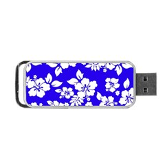 Deep Blue Hawaiian Portable USB Flash (Two Sides)