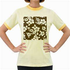 Sepia Hawaiian Women s Fitted Ringer T-Shirts