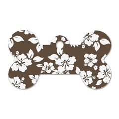Sepia Hawaiian Dog Tag Bone (Two Sides)