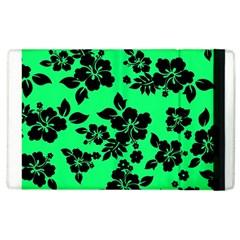 Dark Lime Hawaiian Apple iPad 3/4 Flip Case