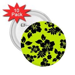 Dark Hawaiian 2.25  Buttons (10 pack)