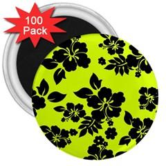 Dark Hawaiian 3  Magnets (100 pack)