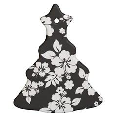 Gray Hawaiian Christmas Tree Ornament (2 Sides)