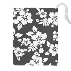 Gray Hawaiian Drawstring Pouches (XXL)