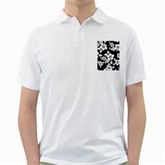 Black And White Hawaiian Golf Shirts