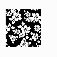 Black And White Hawaiian Large Garden Flag (Two Sides)