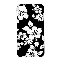 Black And White Hawaiian Apple iPhone 4/4S Hardshell Case with Stand