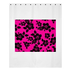 Dark Baby Pink Hawaiian Shower Curtain 60  x 72  (Medium)