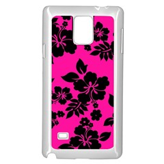 Dark Baby Pink Hawaiian Samsung Galaxy Note 4 Case (white)