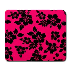 Dark Pink Hawaiian Large Mousepads