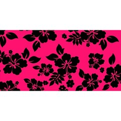 Dark Pink Hawaiian YOU ARE INVITED 3D Greeting Card (8x4)