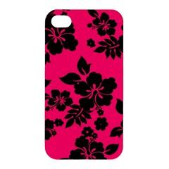 Dark Pink Hawaiian Apple iPhone 4/4S Premium Hardshell Case