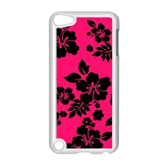 Dark Pink Hawaiian Apple iPod Touch 5 Case (White)