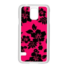 Dark Pink Hawaiian Samsung Galaxy S5 Case (White)