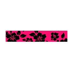 Dark Pink Hawaiian Flano Scarf (Mini)