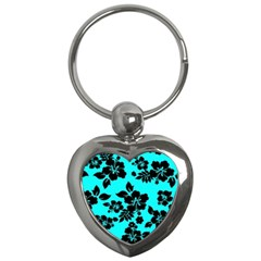 Blue Dark Hawaiian Key Chains (heart)