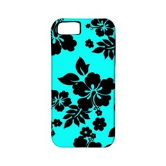 Blue Dark Hawaiian Apple iPhone 5 Classic Hardshell Case (PC+Silicone)
