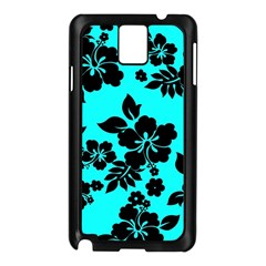 Blue Dark Hawaiian Samsung Galaxy Note 3 N9005 Case (Black)