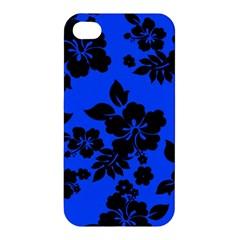 Dark Blue Hawaiian Apple iPhone 4/4S Premium Hardshell Case