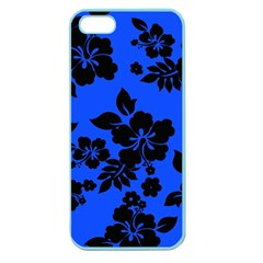 Dark Blue Hawaiian Apple Seamless iPhone 5 Case (Color)