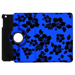 Dark Blue Hawaiian Apple iPad Mini Flip 360 Case