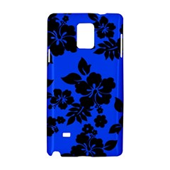 Dark Blue Hawaiian Samsung Galaxy Note 4 Hardshell Case
