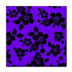 Violet Dark Hawaiian Face Towel